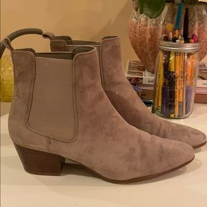 sam edelman gray suede booties!!!!!